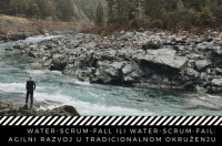 Meetup: WATER-SCRUM-FALL ILI WATER-SCRUM-FAIL: AGILNI RAZVOJ U TRADICIONALNOM OKRUZENJU